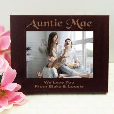 Aunty Engraved Wood Photo Frame- Mocha