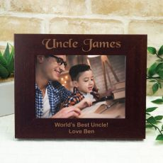 Uncle Engraved Wood Photo Frame- Mocha