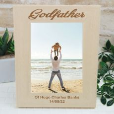 Godfather Engraved Wood Photo Frame