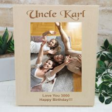 Uncle Engraved Wood Photo Frame