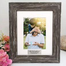 60th Birthday Personalised Photo Frame Hamptons Brown 5x7