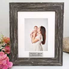 Baby Personalised Photo Frame Hamptons Brown 5x7