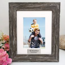 Dad Personalised Photo Frame Hamptons Brown 5x7