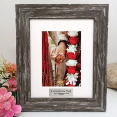 Engagement Personalised Photo Frame Hamptons Brown 5x7