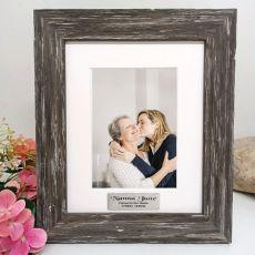 Memorial Personalised Photo Frame Hamptons Brown 5x7