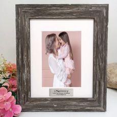 Mum Personalised Photo Frame Hamptons Brown 5x7