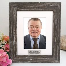 Retirement Personalised Photo Frame Hamptons Brown 5x7