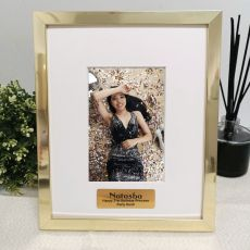 21st Birthday Personalised Photo Frame 4x6 Gold