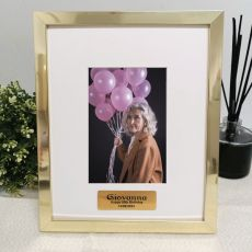 80th Birthday Personalised Photo Frame 4x6 Gold