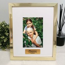 90th Birthday Personalised Photo Frame 4x6 Gold