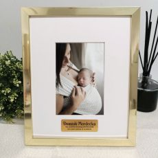 Baby Personalised Photo Frame 4x6 Gold
