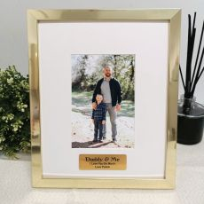 Dad Personalised Photo Frame 4x6 Gold