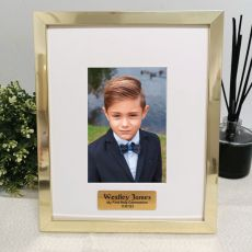 First Communion Personalised Photo Frame 4x6 Gold