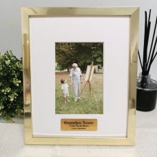 Grandpa Personalised Photo Frame 4x6 Gold