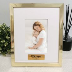 Mum Personalised Photo Frame 4x6 Gold