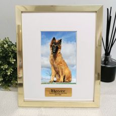 Pet Memorial Personalised Photo Frame 4x6 Gold