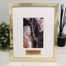 Retirement Personalised Photo Frame 4x6 Gold