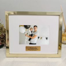 1st Birthday Personalised Photo Frame 5x7 Gold