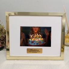 21st Birthday Personalised Photo Frame 5x7 Gold