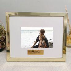 Personalised Birthday Photo Frame 5x7 Gold
