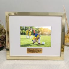 Coach Personalised Photo Frame 5x7 Gold