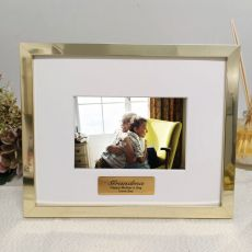 Grandma Personalised Photo Frame 5x7 Gold