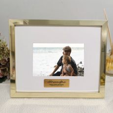 Grandpa Personalised Photo Frame 5x7 Gold