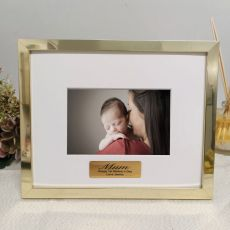 Mum Personalised Photo Frame 5x7 Gold