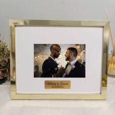 Wedding Personalised Photo Frame 5x7 Gold