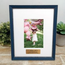 Personalised 1st Birthday Photo Frame Amalfi Navy 4x6