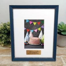 Personalised 50th Birthday Photo Frame Amalfi Navy 4x6