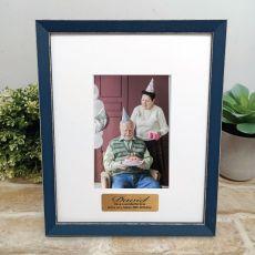 Personalised 80th Birthday Photo Frame Amalfi Navy 4x6