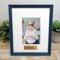 Personalised  Birthday Photo Frame Amalfi Navy 4x6