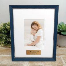 Personalised Aunt Photo Frame Amalfi Navy 4x6