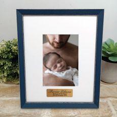 Personalised  Baby Photo Frame Amalfi Navy 4x6