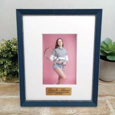 Personalised Coach Photo Frame Amalfi Navy 4x6