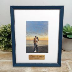 Personalised Engagement Photo Frame Amalfi Navy 4x6