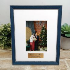 Personalised Photo Frame Amalfi Navy 4x6