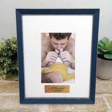 Personalised Naming Day Photo Frame Amalfi Navy 4x6