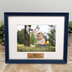 Personalised 1st Birthday Photo Frame Amalfi Navy 5x7
