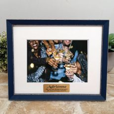 Personalised 40th Birthday Photo Frame Amalfi Navy 5x7