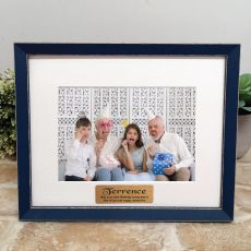 Personalised 60th Birthday Photo Frame Amalfi Navy 5x7