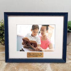 Personalised  Aunty Photo Frame Amalfi Navy 5x7