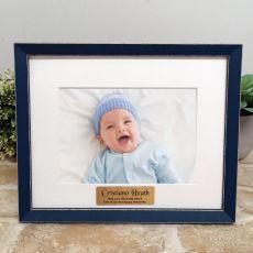 Personalised  Baby Photo Frame Amalfi Navy 5x7