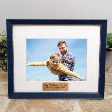 Personalised Godfather Photo Frame Amalfi Navy 5x7