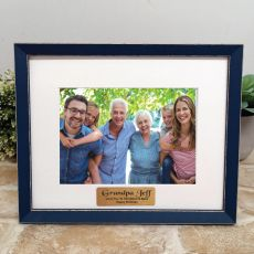 Personalised Grandpa Photo Frame Amalfi Navy 5x7