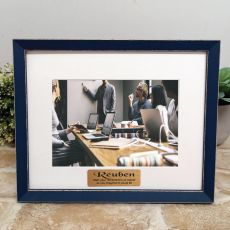 Personalised Retirement  Photo Frame Amalfi Navy 5x7