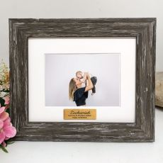 1st Personalised Photo Frame Hamptons Brown 4x6
