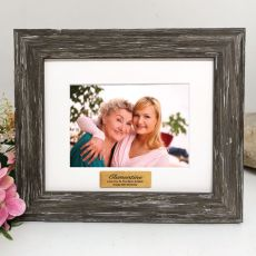 80th Personalised Photo Frame Hamptons Brown 4x6