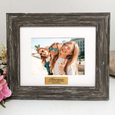 Personalised Birthday Photo Frame Hamptons Brown 4x6